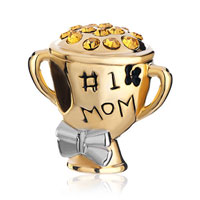 Charms Beads - mother daughter 1 number 1 mom golden cup beads charms bracelets Image.