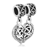 Charms Beads - grandmother granddaughter heart celtic knot charms for bracelet Image.