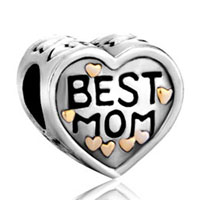 Charms Beads - mother daughter charms heart charm bracelet best mom charms beads Image.