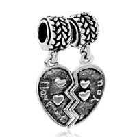 Charms Beads - silver i love you heart charm bracelet love lover european bead Image.