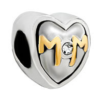 DPC0030: mom charms heart swarovski elements Image.