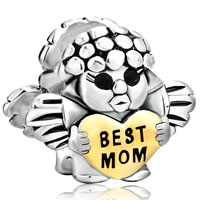 Sterling Silver Jewelry - mother daughter charms angel baby heart beads 925 sterling silver Image.