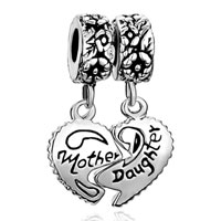 Charms Beads - mother daughter charm heart love mom charm beads charms bracelets Image.