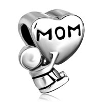 Charms Beads - mother daughter charms mom baby charm bracelet heart european bead Image.