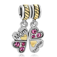 Charms Beads - mother daughter charm bracelets heart love butterfly charm bracelet Image.