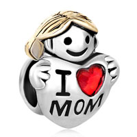 Charms Beads - mother daughter charms silver american girl charm i love mom beads Image.