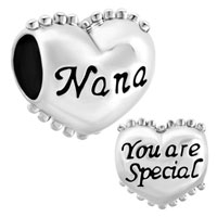 Charms Beads - heart nana you are special charm bracelet spacers silver bracelets Image.
