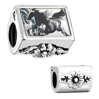 Galloping Equestrian Horse Painting Flower Leaves Fit All Brands Charms Bracelets