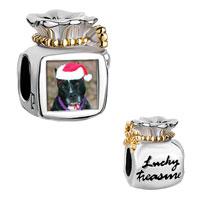 Charms Beads - moneybag golden bowknot lucky treasure christmas dog Image.