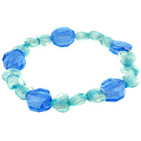 Indigo And Baby Blue Heart Bracelet