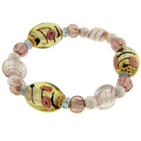 Pink Multicolor Ideas Mother Beads Murano Glass Bracelet