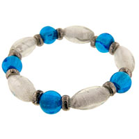 Blue And White Murano Glass Bracelet
