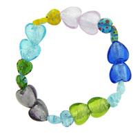 Heart Millefiori Murano Glass Bracelets