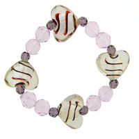 Heart Gift Mother Beads Murano Glass Bracelet