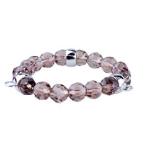Fasteners Pale Purple Quartz Link Charms Bracelet