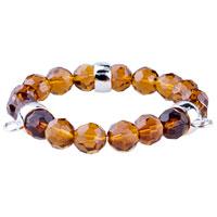 Fasteners Amber Quartz Link Charms Bracelet