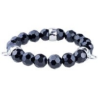 Fasteners Black Quartz Bracelet Sterling Silver Pendants Charms