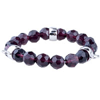 Fasteners Grape Quartz Bracelet For Link Charms