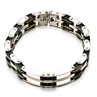 Mens Stainless Steel Bracelets Cuff Bangle Bracelets Mens Domineering Chain Link Bracelet