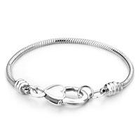 Snake Charms Snake Chains Snake Bracelets 7 5 Inch Heart Lock Snake Bracelet