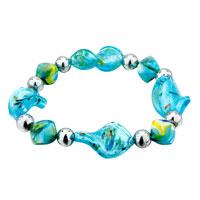 Pale Blue Helix Murano Glass Bracelet