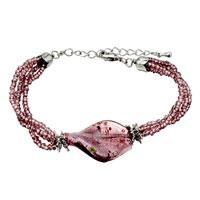 Purple Helix Classic Murano Glass Bracelet
