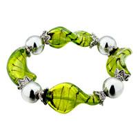 Handmade Green Helix Classic Murano Glass Bracelet