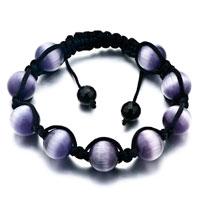 Amethyst Shamballa Bracelets Agate Adjustable Crystal Murano Glass Bracelet