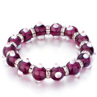 Evil Eyes Bracelets Glass Evil Eye Beads Purple Swarovski Bracelet Women