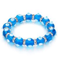 Evil Eyes Bracelets Murano Glass Evil Eye Beads Blue Swarovski Elements
