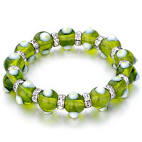 Evil Eyes Bracelets Glass Eye Beads Peridot Swarovski Bracelet
