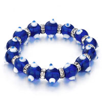 Evil Eyes Bracelets Glass Eye Beads Sapphire Swarovski Bracelet Women