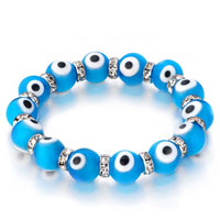 Evil Eyes Bracelets Glass Eye Beads Blue Black Swarovski Evil Bracelet Women
