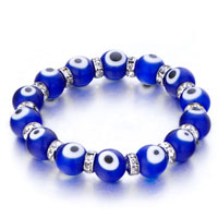 Evil Eyes Bracelets Eye Beads Sapphire Blue Swarovski Evil Murano Glass Bracelet