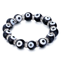 Evil Eyes Bracelets Glass Eye Beads Black Swarovski Evil Bracelet