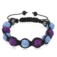 Shamballa Bracelet Alternate Aquamarine Amethyst Disco Ball