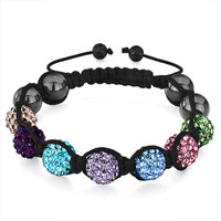 Shamballa Bracelet Colorful Disco Ball Heidan Beads