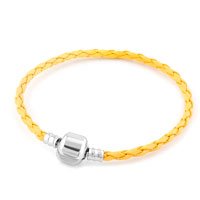 Topaz Yellow Wrist Chain Cape Cod Bracets Braided Leather Cord Bracelet