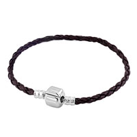 Gray Wrist Chain Cape Cod Bracets Braided Leather Cord Bracelet