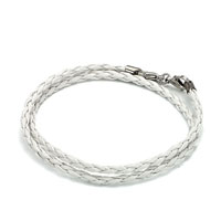 Snake Charms Snake Chains Snake Bracelets Clear White Leather Wrist Chain Bracelet