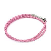 Snake Charms Snake Chains Snake Bracelets Rose Pink Leather Bracelet