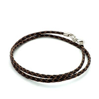 Snake Charms Snake Chains Snake Bracelets Brown Leather Woven Wrist Chain Bracelet