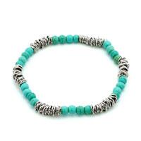 Trendy Turquoise Gemstone Chunky Stretch Bracelet