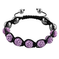 Alexandrite Amethyst Crystal Stone Balls Shamballa Beaded Inspired Adjustable Bracelets Lace Bracelet Choose Your Color