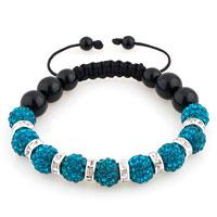 Shamballa Bracelet Ocean Blue Swarovski Elements Cz Crystal Stone Disco Balls Beaded Bracelets