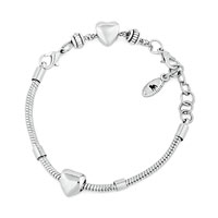 Heart Chain Link Lobster Clasp Bracelet