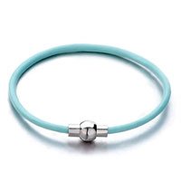 Snake Charms Snake Chains Snake Bracelets Aquamarine Blue Leather Bracelet