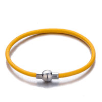 Snake Charms Snake Chains Snake Bracelets Topaz Yellow Leather Bracelet