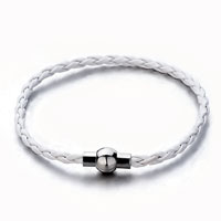 Snake Chains Clear White Woven Beads Charms Bracelets Fit All Brands