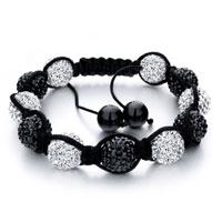 Shamballa Bracelet Pairs Black White Ballgift Women